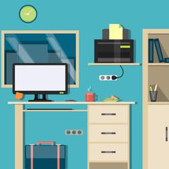 Bright Interior Workspace