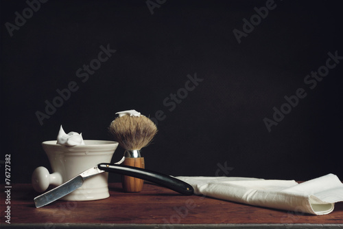 canvas print picture Shaving Tool