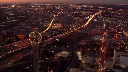 Dallas Skyline Freeway Traffic
