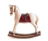 vintage rocking horse isolated on white