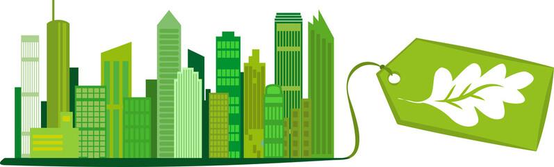 Die umweltfreundliche, grüne Stadt, Vektor