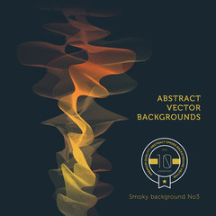 Abstract dark smoke vector background