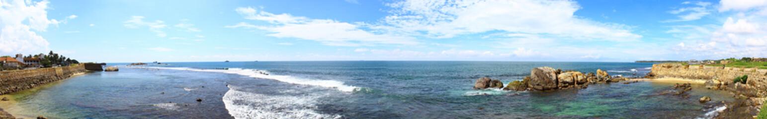 Панорама Голландского форта в Галле, Шри-ланка
