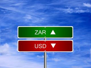 ZAR USD Forex Sign