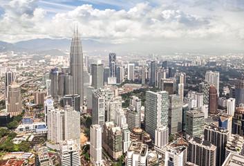 Skyline of Kuala Lumpur, Malaysia.