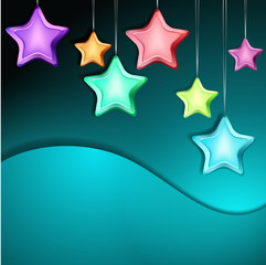 Bright Abstract Vector Background with Shiny Stars. Can be used