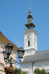 Belltower Of Cathedral St. George In Novi Sad, Serbia