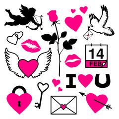 Set of Valentine's Day Symbols