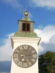 Clock Tower Of Petrovaradin Fortress In Novi Sad, Serbia