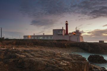 Farol do Cabo Raso após o pôr do sol
