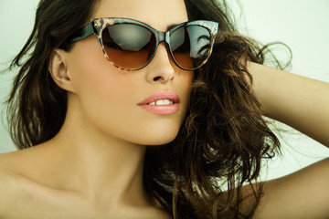 sunglasses beauty portrait