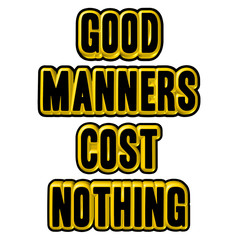 Good Manners sign