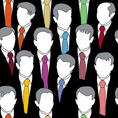 Seamless background businessmen with colorful ties