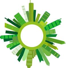 Umweltfreundliche Städte, Vektor