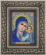 Постер, плакат: икона Богородицы вышитая бисером jpg