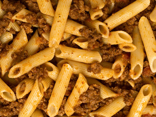 bolognese pasta food background
