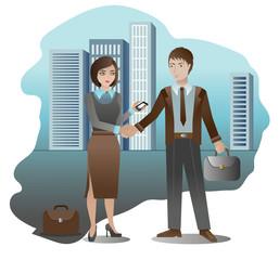 Handshake business partners