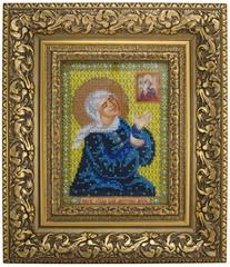 икона Святой Матроны Московской, вышитая бисером