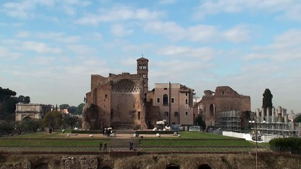 Temple of Venus and Roma at the Roman Forum. Italy.