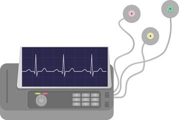 ECG Machine with Pads