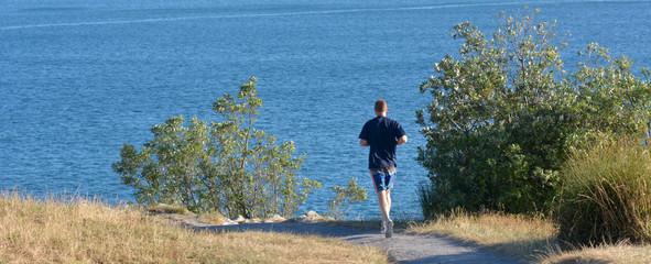 Man runs outdoor