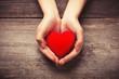 Leinwandbild Motiv Red heart