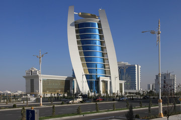Ashgabat, Turkmenistan - October 11, 2014: View on the  new buil