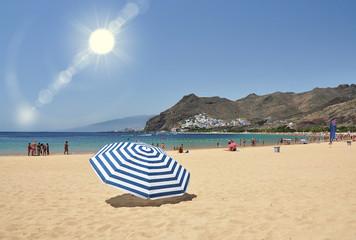 Teresitas beach of Tenerife island. Canaries
