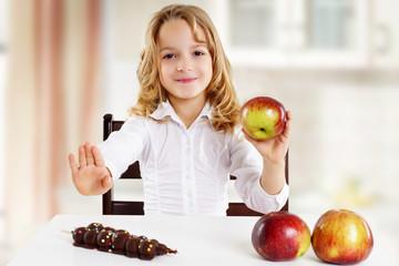 Kind möchte gesund essen