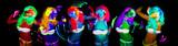 Fototapety sexy neon uv glow dancer
