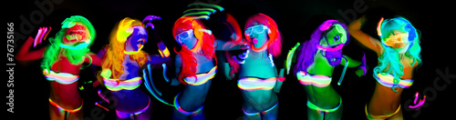 sexy neon uv glow dancer - 76735166