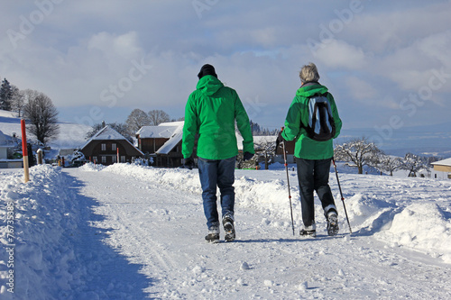 canvas print picture winterwandern