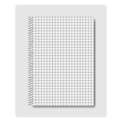 Notepad, vector illustration.