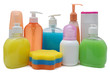 Closed Cosmetic Or Hygiene Plastic Bottle Of Gel, Liquid Soap