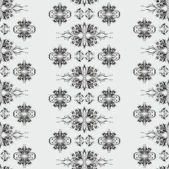 Wallpaper pattern damask style