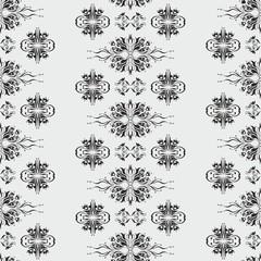 Wallpaper pattern damask style