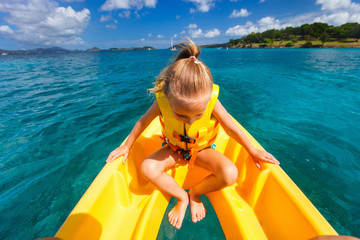 Little girl in kayak