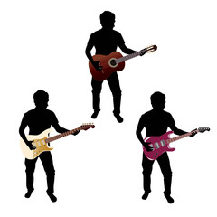 silhouette + guitar