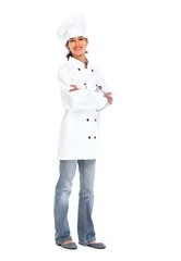 Young chef woman