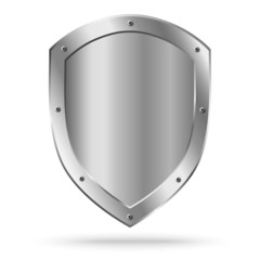 Vector classic empty metal shield isolated