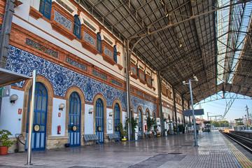Platform inside a train station
