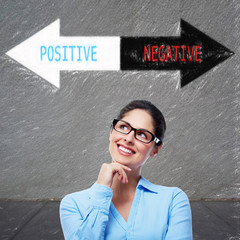 Woman positive thinking