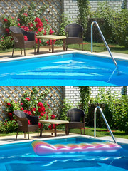 Swimming pool. Set.