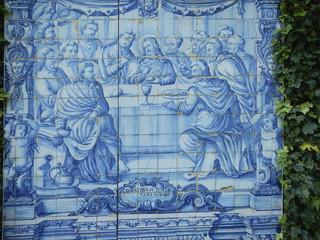 Old tile mosaic - azulejos, Madeira