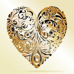 cuore oro