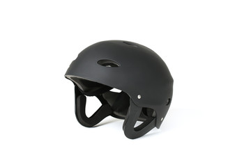 Black helmet for extreme sports