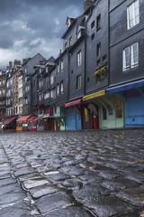 Rue pavé à Honfleur Normandie