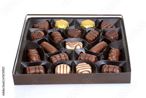 Fotobehang Snoepjes box of chocolates