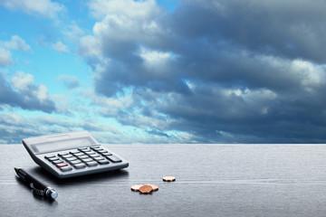 Gewitterstimmung über Finanzen