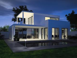 Villa zur blauen Stunde